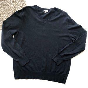 Merona | Large Black V-Neck Pullover Sweater
